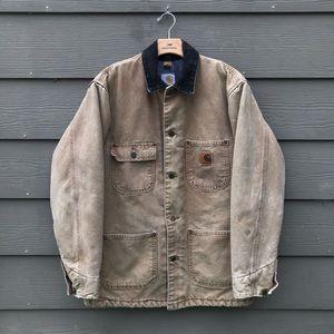 Carhartt Duck Canvas Lined Button Up Jacket